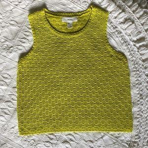 Forever 21 Citron Sleeveless Knitted Sweater Vest